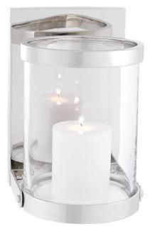 Casa Padrino Luxus Wandkerzenleuchter Silber 17, 5 x 19, 5 x H. 25, 5 cm - Wandkerzenhalter - Deko Accessoires - Vorschau 2