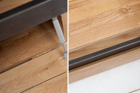 Casa Padrino Designer Fernsehschrank Natur Eiche B.115 x H.40 x T.60 - Sideboard - Kommode - Handgefertigt Massivholz! - Vorschau 5