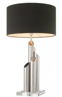Casa Padrino Luxus Tischleuchte Nickel Durchmesser 20 x 43 x H 81 cm - Luxus Leuchte