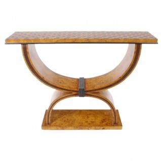 Casa Padrino Art Deco Beistelltisch 120cm x 35cm x H.95cm - Antik Stil Tisch - Möbel