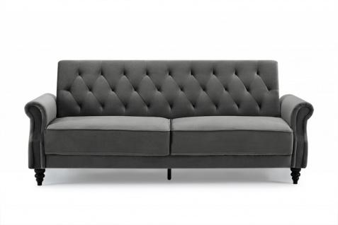 Casa Padrino Chesterfield Designer Schlafsofa in Grau - Designer Sofa