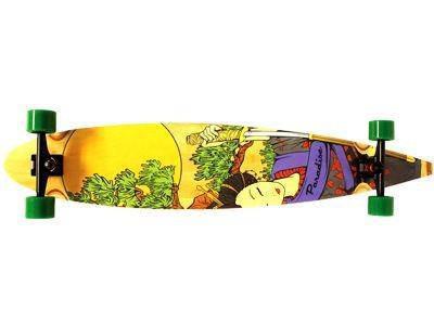 Paradise Longboard Skateboard Bamboo Geisha Pintail 47, 75x9 inch