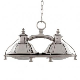 Casa Padrino Luxus Industrie Design Leuchte - Luxus Edelstahl Hängeleuchte vernickelt 49 x 25 cm