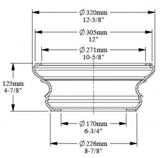 Casa Padrino Barock Zierelement Sockel Weiß Ø 32 x H. 12, 5 cm - Runder Deko Säulenfuß im Barockstil - Vorschau 4