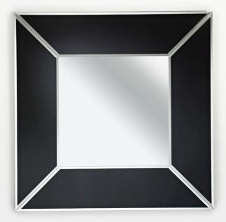 Casa Padrino Luxus Spiegel Schwarz 90 x H. 90 cm - Luxus Möbel & Accessoires