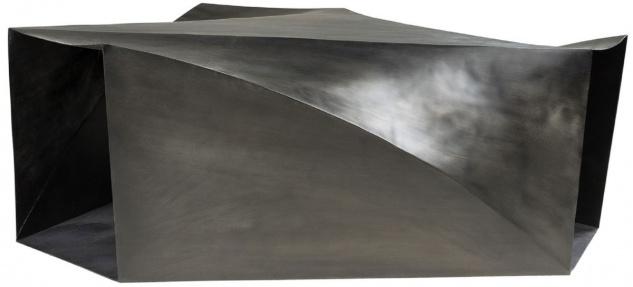 Casa Padrino Designer Stahl Couchtisch Dunkelgrau 107 x 120 x H. 41 cm - Wohnzimmertisch - Designer Wohnzimmer Möbel - Vorschau 2