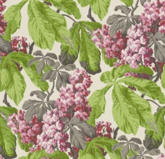 Casa Padrino Barock Vliestapete mit Blumenmuster Creme / Grün / Grau / Rosa / Lila 10, 05 x 0, 52 m - Deko Accessoires