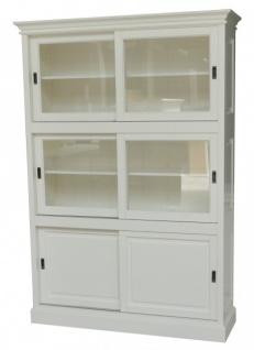 Großer Shabby Chic Landhaus Stil Schrank mit 3 Türen - Buffetschrank - Schrank Esszimmer - Schiebetürenschrank