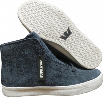 SUPRA Skateboard Schuhe Thunder HIgh Navy/White