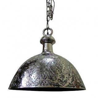 Casa Padrino Antik Stil Hänge Leuchte - Aluminium Hängeleuchte vernickelt 47 x H 55 cm