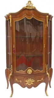 Casa Padrino Barock Vitrine 107 x 56 x H. 197 cm - Barock Möbel - Vitrinenschrank - Wohnzimmerschrank