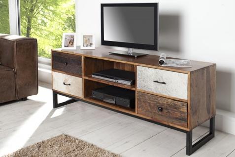 Casa Padrino Luxus Kufell Fernsehschrank Mehrfarbig B.150 x H.60 x T.40 - Sideboard - Kommode - Handgefertigt Massivholz! - Vorschau 5