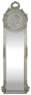 Casa Padrino Barock Spiegel Grau 55 x H. 175 cm - Massiv und Schwer - Antik Stil Wandspiegel