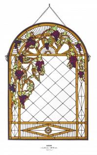 Casa Padrino Tiffany Glas Mosaik Wand Dekoration 60 x H 90 cm - Restaurant Cafe Hotel Einrichtung Wand Schmuck