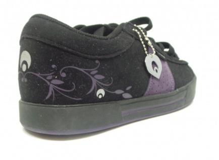 Osiris Skateboard Schuhe Volley Girls Schuhe Black/Purple Leaves Beliebte Schuhe Girls b850dd