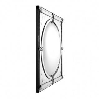 Casa Padrino Luxus Deko Wand Spiegel Art Deco 92 x 92 cm Messing vernickelt - Antik Stil Spiegel convex - Wandspiegel - Luxus Hotel Möbel Collection - Vorschau 2
