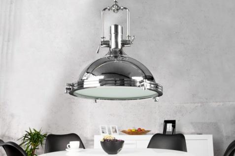Casa Padrino Industrial Hängeleuchte Chrom Mod2 45 cm - Industrie Design Vintage Lampe Leuchte