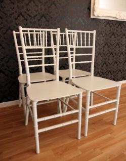 4er Set Designer Acryl Stuhl Weiß - Casa Padrino Ghost Chair Möbel Designer Möbel - Polycarbonat Stühle - Vorschau 4