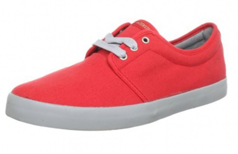 Dekline Skateboard Schuhe River Red / Grey - Sneakers Sneaker Vegan