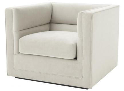 Casa Padrino Luxus Sessel Hellgrau 92 x 86 x H. 73, 5 cm - Luxus Wohnzimmer Sessel