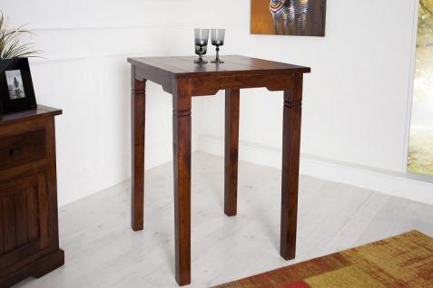 Casa Padrino Bar Tisch aus massivem Sheeshamholz, antik lackiert - Zimmer Bar Tisch