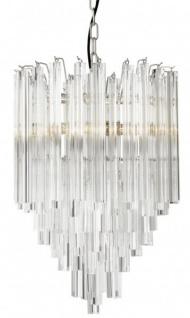 Casa Padrino Luxus Hängeleuchte Eiszapfen Glas   Art Deco Hotel /  Restaurant Lampe   Eindrucksvolle Leuchte
