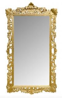 Casa Padrino Barock Wandspiegel Gold 115 x H. 202 cm - Barockstil Spiegel Antik Stil Möbel