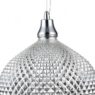 Casa Padrino Luxus Hängeleuchte Silber Ø 28 x H. 15, 3 cm - Luxus Wohnzimmermöbel - Vorschau 3