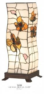 Tiffany Tischleuchte Durchmesser 14cm, Höhe 47cm Y6102 Leuchte Lampe