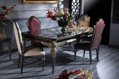 Casa Padrino Luxus Barock Esszimmer Set - Esstisch und 4 Esszimmerstühle - Esszimmermöbel im Barockstil
