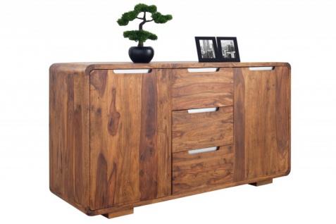 Casa Padrino Fernsehkommode 145 cm - Fernsehschrank - Sideboard - Handgefertigt aus Massivholz! - Vorschau 3