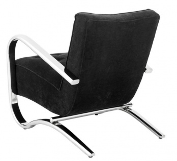Casa Padrino Luxus Sessel Schwarz 64 x 82 x H. 75 cm - Designer Möbel - Vorschau 3