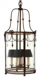 Casa Padrino Luxus Laterne - Luxus Hängeleuchte Antik Messing Durchmesser 36 x H 80 cm