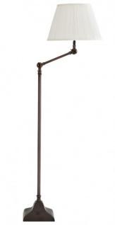 Casa Padrino Luxus Stehleuchte Bronze Finish Weiß Stehlampe Lampe Leuchte - sehr elegant und edel aus der Luxus Kollektion