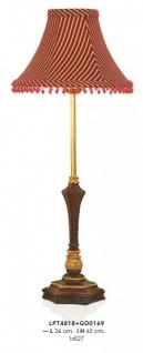 Casa Padrino Barock Tischleuchte Rot / Gold 26 x H 65 cm - Luxus Tisch Leuchte - Nostalgisch und prunkvoll