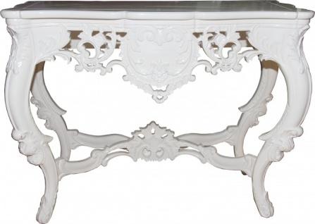 Casa Padrino Luxus Barock Konsolentisch Weiss - Konsole Tisch Beistelltisch - Vorschau 2