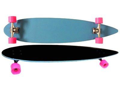 """Moose Longboard Komplettboard Skateboard Pintail Light Blue / Black Grip Complete Longboard 9, 25"""" x 36"""""""