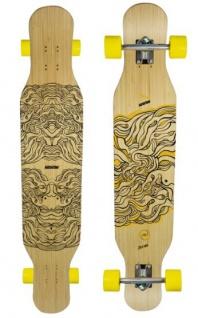 Koston Bambus Longboard Komplettboard Dancer Cruiser Illusion 46.0 x 9.0 inch - Profi Longboard Carver - Carving Dance Longboard