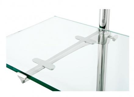 Casa Padrino Designer Doppel-Wandregal Silber 220 x 41 x H. 240 cm - Luxus Wohnzimmer Möbel - Vorschau 2