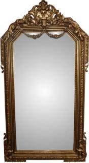 Casa Padrino Barock Luxus Spiegel Gold B 99 cm, H 174 cm - Edel & Prunkvoll