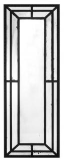 Casa Padrino Luxus Mahagoni Spiegel Schwarz 80 x H. 220 cm - Designer Wandspiegel