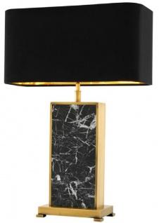 Casa Padrino Luxus Tischleuchte Antik Messingfarben / Schwarz 46 x 22 x H. 66 cm - Luxus Kollektion