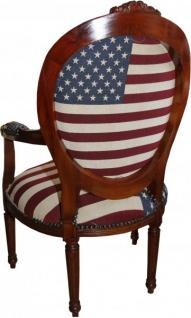 Barock Salon Stuhl USA Design / Mahagoni Braun - USA Stil - Vorschau 2