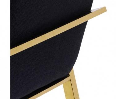 Casa Padrino Luxus Designer Stuhl Schwarz Gold - Luxus Kollektion - Vorschau 4