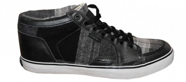 Circa Skateboard Damen Schuhe Pusher Black/ Grey Plaid