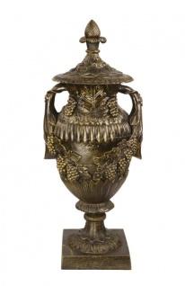 Casa Padrino Antik Stil Gartenfigur Urne - Gusseisen - Bronze Look