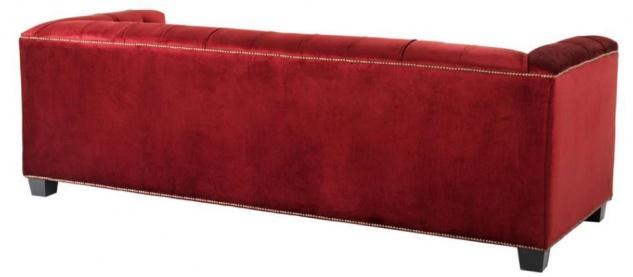 Casa Padrino Designer Sofa Rot - Luxus Kollektion - Vorschau 3