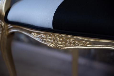Pompöös by Casa Padrino Barock Esszimmerstuhl mit Armlehnen Schwarz / Weiß / Gold - Pompööser Barock Stuhl designed by Harald Glööckler - Vorschau 5