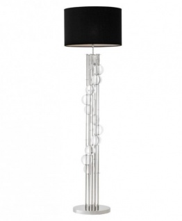 Casa Padrino Luxus Stehleuchte Nickel - Luxus Leuchte