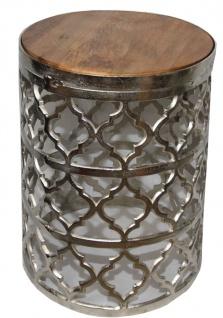 Casa Padrino Designer Beistelltisch Silber Ø 35 x H. 44 cm - Moderner Runder Tisch